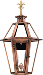Rampart RT-23G Fleur de Lis Finial top from Primo Lanterns