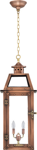 Bienville PL-BV-20 Chain Hung Electric Lantern from Primo Lanterns