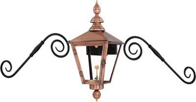 Charleston PL-CT-27G Moustache Mount from Primo Lanterns